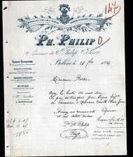 """BOLLENE (84) PRODUITS REFRACTAIRES / BRIQUES DALLES """"Ph. PHILIP"""" en 1896"""