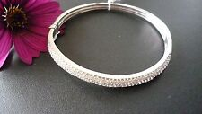 STUNNING,GENUINE 925 STERLING SILVER ZIRCONIA BANGLE MADE IN ITALY  EXCLUSIVE