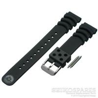 Seiko Z20 Watch Strap SBCM029 SBDC005 SKX003P 20mm Black Rubber Curved Vent Band