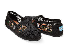 6a7baed8665 Toms Authentic Black Morocco Crochet Toms Shoes Brand New