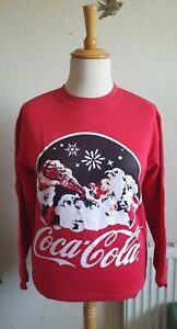 Red Christmas Coca Cola Sweater Jumper Size S