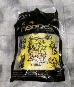 """Neopets Yellow Yurble Bear McDonalds Mini Promo Plush Stuffed Toy Sealed 4.5"""""""