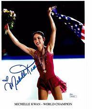 Michelle Kwan World Champion Figure Skater Autograph Signed 8x10 Photograph JSA