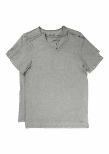 Marc O Polo Doppelpack Herren Shirt V-Neck Kurzarm Shirt 2er Pack Grau mel.