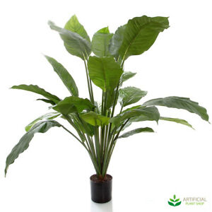 Artificial Fake Plants Spathiphyllum Potted 1m