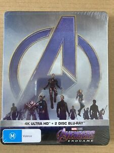 Avengers Endgame 4K Bluray Steelbook JB HIFI Marvel MCU - Sealed Mint