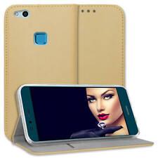 "Custodia ecopelle bookstyle per Huawei P10 Lite (WAS-LX1/LX1A / 5.2"") - oro"