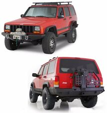 Smittybilt Jeep Cherokee XJ - XRC Front and Rear Bumper w/ Tire Carrier Combo