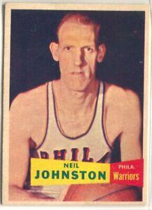 NEIL JOHNSTON 1957 TOPPS BASKETBALL #3 PHILADELPHIA WARRIORS