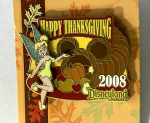 Disney Collector Pin Thanksgiving 2008 Tinker Bell Lim Edition 1000 Disneyland
