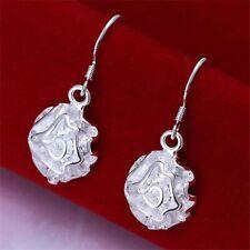 925 Sterling Silver Plated Rose Earrings