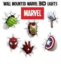 Marvel 3Dfx Wall Light  Spider-man Hulk Iron Man Captain America Thor