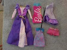 Lot of Barbie clothes princess fashion dresses board shorts lot of 5 (b11)
