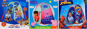 Paw Patrol, Peppa Pig, Spiderman - Pop Up Play Tent Indoor Outdoor Play House