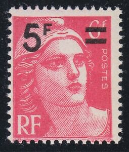 France 1949 MNH Mi 833 Sc 610 Marianne ,Surcharged with New Value **