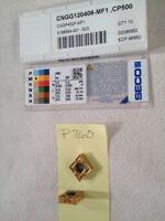 10 NEW SECO (CNMG) CNGP 432F-MF1 CARBIDE INSERTS CNGG120408-MF1 GRADE CP500 P760