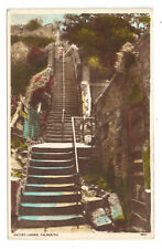 Jacob's Ladder, Falmouth - Posted 1954 to Mrs E Silverwood, Dale Bank, Ingleton