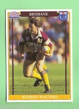 1993  BRISBANE BRONCOS  RUGBY LEAGUE CARD #28  KERROD WALTERS