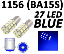 Blue 1156 BA15S 27 SMD 5050 LED RV Brake Backup Turn Signal Car Light Bulb Lamp
