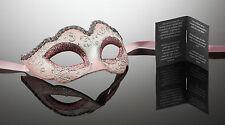 kleine original venezianische Maske AUGENMASKE Karneval Maskenball Rosa