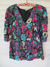 Gorgeous Sequin Multi Colored Joseph Le Bon India Top szS Blue/Pink/Purple/White
