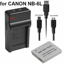 Battery Charger for Canon Nb-6l Nb-6lh PowerShot S90 S95 Digital IXUS 105 Is