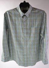 Pendleton Bridgeport Men's Green Plaid Dress Shirt Size L Large
