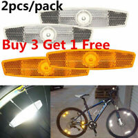 Pro Bike Spoke Reflector Pair Bicycle Wheel Safety Warning Reflective Mount Clip