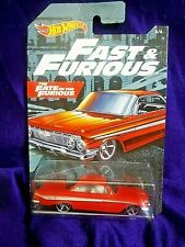 Hot Wheels Fast & Furious '61 Chevrolet Impala #6/6 Red Die-Cast 1:64 Scale New
