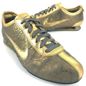 Rare Nike Shox Rivalry Premium Gold Training Shoes Womens Size 8.5 316327 071