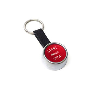 Audi Sport R8 Key Chain Start Stop Leather Red Silver 3181800200 Genuine New
