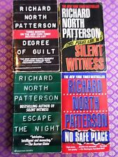4 Richard North Patterson novels - No Safe Place, Silent Witness, Degree of Guil