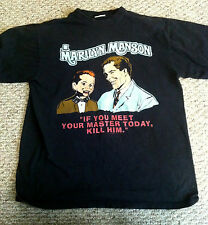Marilyn Manson shirt extremely rare vintage meet your master, puppet design
