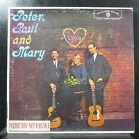 Peter, Paul and Mary VG+ Promo Mono LP Warner Bros. W1449 USA 1962