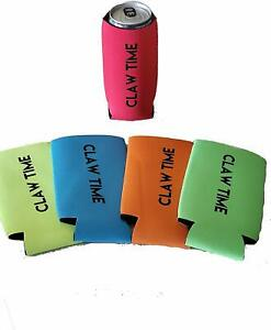 'Claw Time' Hard Seltzer Water Slim Can Cooler Coozie Koozie Drink Holder Bar