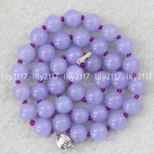 Fashion Natural 10mm Round purple Jasper Gems beads necklace 18/22/24/36/50'' AA