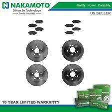 Nakamoto Brake Pad & Rotor Premium Posi Ceramic Front & Rear Kit for Toyota
