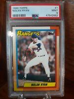 1990 Topps Nolan Ryan #1 PSA 9 MINT Texas Rangers FREE SHIPPING ⚾️