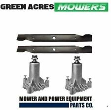 """2 x SPINDLES AND 1 X BLADE SET FITS SELECTED 42"""" HUSQVARNA & CRAFTSMAN MOWERS"""