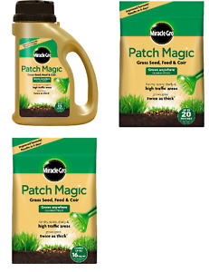 Miracle-Gro Patch Magic Grass Seed Feed and Coir Lawn Patching Shaker Jug Bag