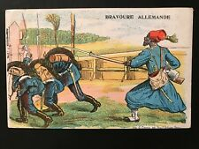 WWI German Bravery - Propaganda Postcard - r285