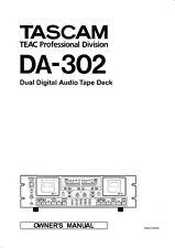Bedienungsanleitung-Operating Instructions für Teac DA-302