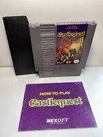 Castlequest -- NES Nintendo Authentic Game & Instructions Manual Booklet