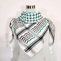 Hirbawi Scarf Arab Shemagh Original Keffiyeh Palestinian Flag, Brand 100% Cotton
