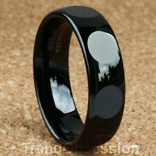 BLACK Tungsten Carbide Ring Mens Wedding Band Size 9