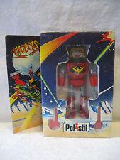 "MIB vintage Italian UFOBOTS chogokin diecase metal toy 4"" RARE Polistil ROBOT !!"