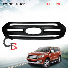 Front Grill Grille Cover Matte Black Trim Fits Ford Everest Suv 2015 2016 2017
