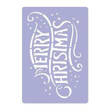 Pochoir de Noël en PLASTIQUE réutilisable 30x42 à 65x95cm JOYEUX NOËL