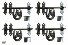 (4) Horseshoe Stall Door Drop Latches - Deluxe Barn Dutch Door or Gate Latches