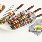 BBQ Grilling Basket Stainless Steel Barbecue Grill Rack Tools BBQ Tray Mesh